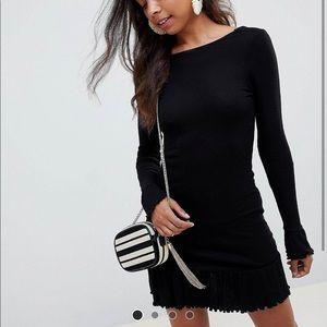 Scoop back mini dress